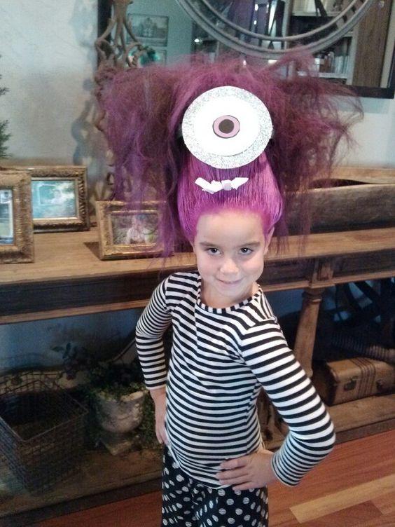peinados-ninos-halloween-minion-morado