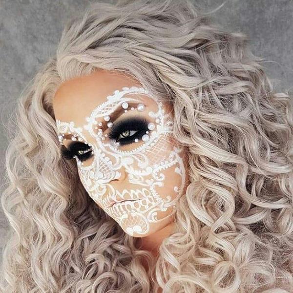 Bonito rizado Peinado Para Halloween