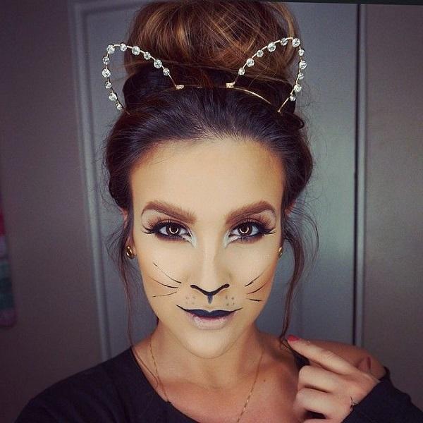 Peinado de Gato Halloween