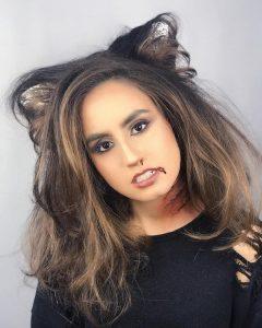 Peinado de Orejas de Gato