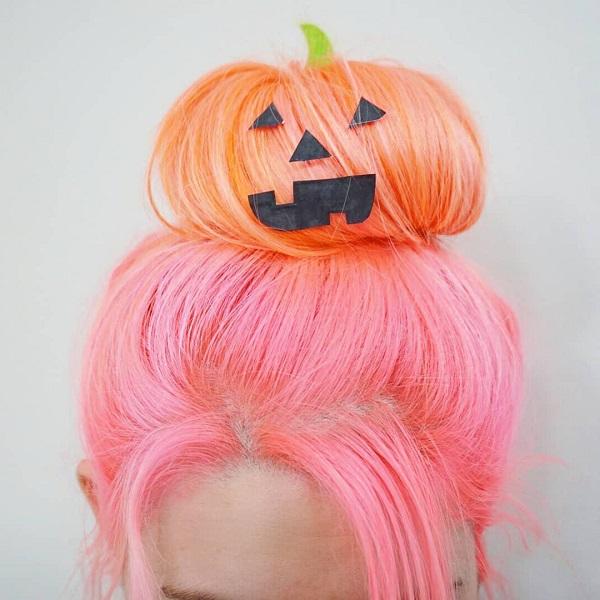 calabaza halloween peinado