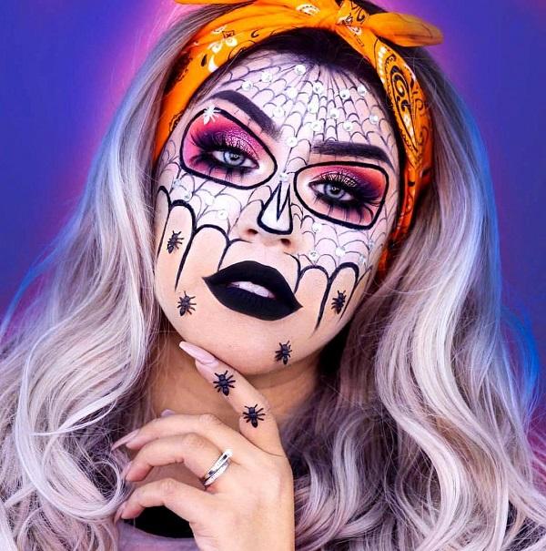 peinado calavera halloween