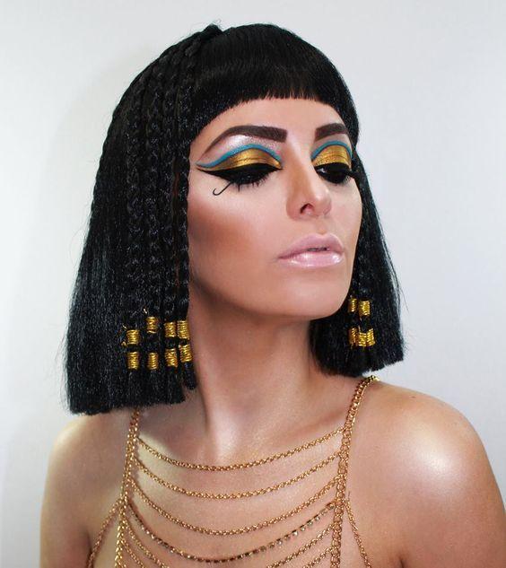 peinado cleopatra halloween