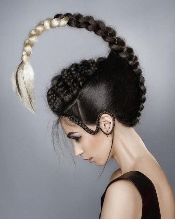 peinado con un escorpion para halloween