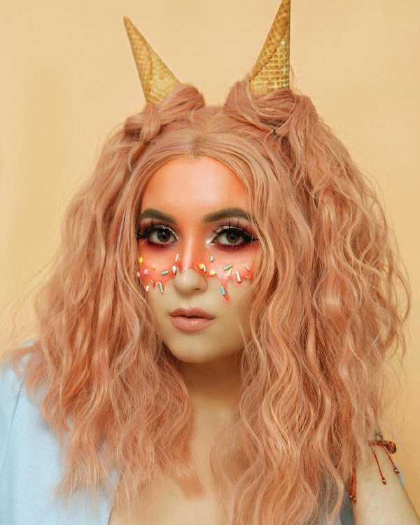 peinado de helado de Halloween