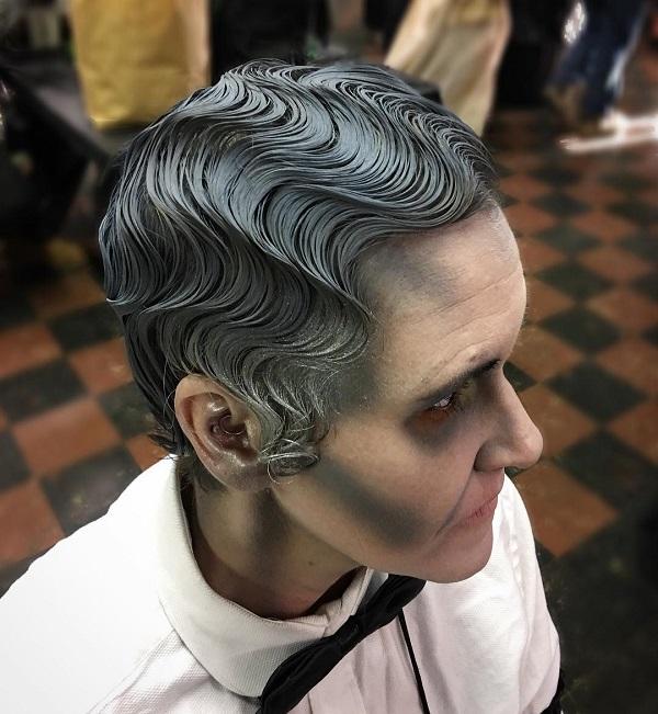 peinado de fantasma halloween