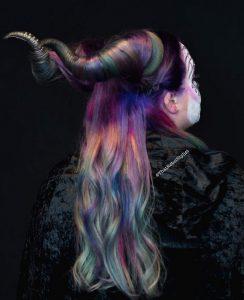 peinados halloween cuernos de malefica