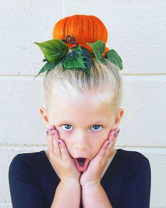 peinados-ninas-halloween-calabaza