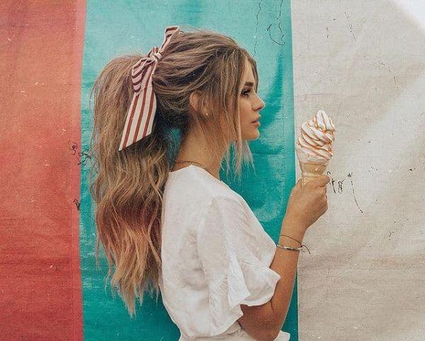 peinados con flequillo verano