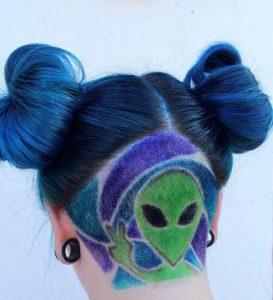 UFO peinado halloween con undercutUFO-peinado-halloween-con-undercut