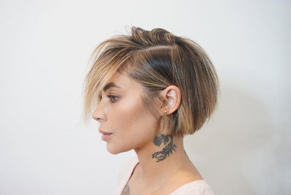 peinado bob muy corto