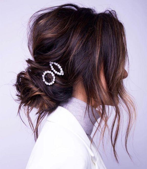 peinados con flequillo para boda