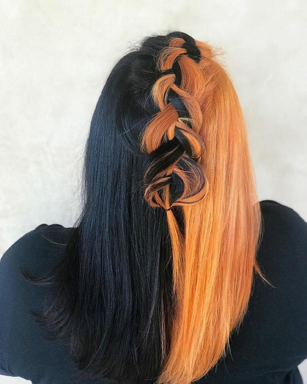 bicolor pelo halloween