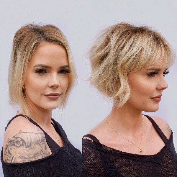 peinado con flequillo mujeres