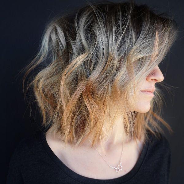 cabello bob balayage mechas