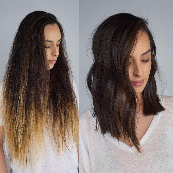 peinado bob largo ondulado