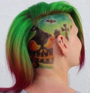 halloween peinado con undercut