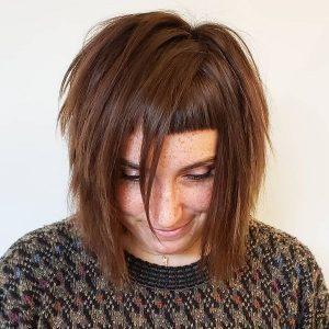 peinados flequillo alto