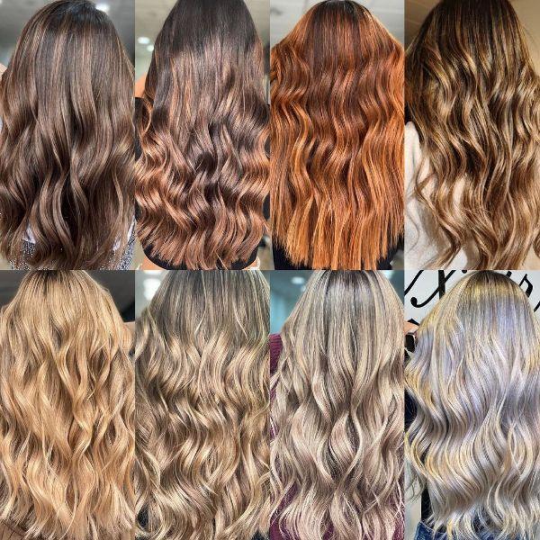 Diferentes colores de cabello y peinados para mujeres para el otoño