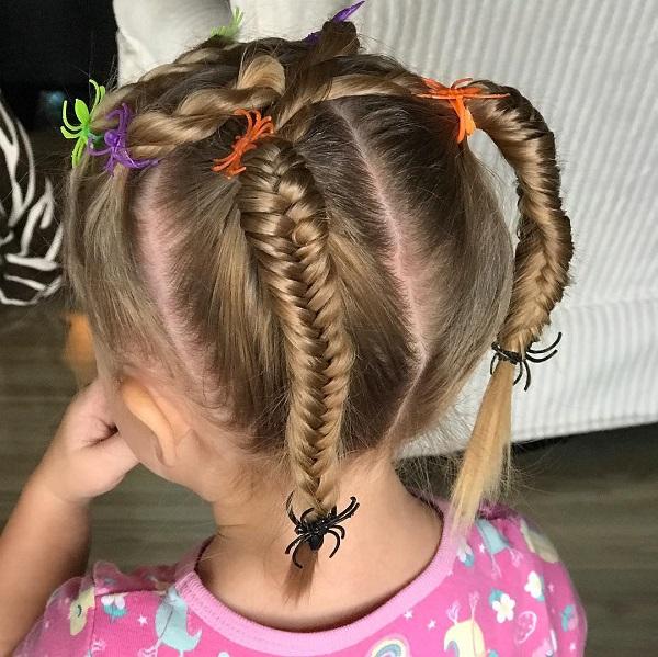 peinado-ninas-halloween-arana-trenza