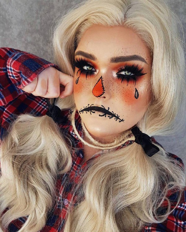 peinado pigtails halloween