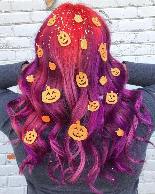 peinados-halloween-calabaza