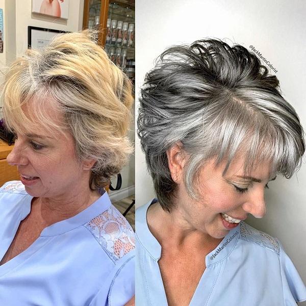 peinados mujeres mayores de 70 años