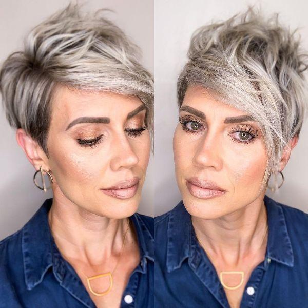 peinados con flequillo modernos