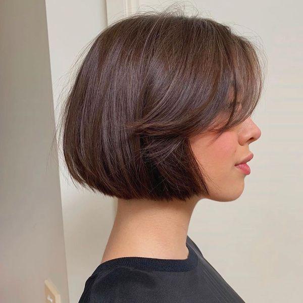 peinados bob corto con flequillo